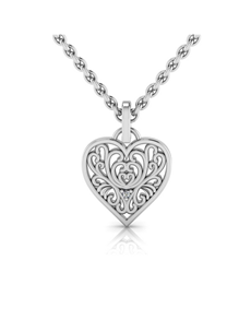 jewellery: WHY Silver Filigree Heart Necklace!