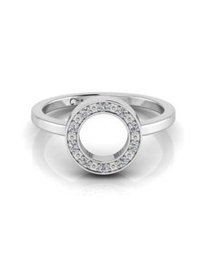 jewellery: WHY Sterling Silver Diamond Halo Ring!