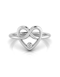 jewellery: WHY Silver Diamond Infinity Heart Ring!