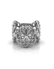 jewellery: WHY Sterling Silver Diamond Ring NJWR032!