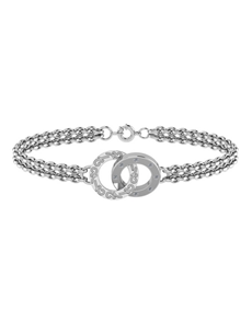 jewellery: WHY Sterling Silver Diamond Circles Bracelet!