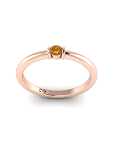 WHY Silver Citrine Ring