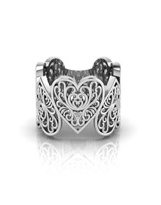 jewellery: WHY Silver Filigree Heart Ring!