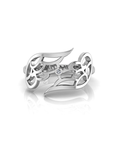 jewellery: WHY Silver Diamond Angel Wing Ring!