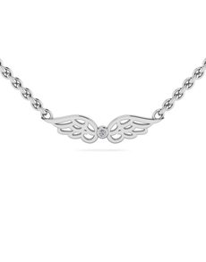 jewellery: WHY Silver Diamond Angel Wing Pendant!