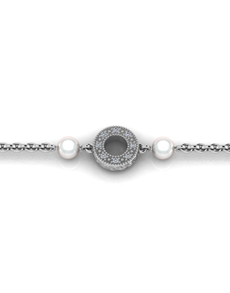 jewellery: WHY Sterling Silver Pearl and Diamond Bracelet!