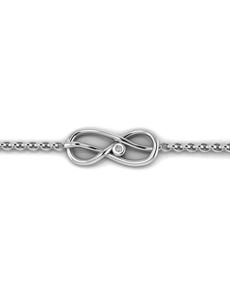 jewellery: WHY Sterling Silver Infinity Diamond Bracelet!