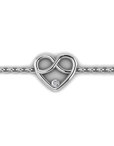 jewellery: WHY Silver Diamond Infinity Heart Bracelet!