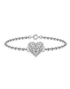 jewellery: WHY Silver Filigree Heart Bracelet!