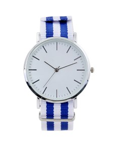watches: Gents Royal and White Nylon Watch!