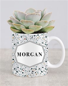 flowers: Personalised Succulent Named Mug!