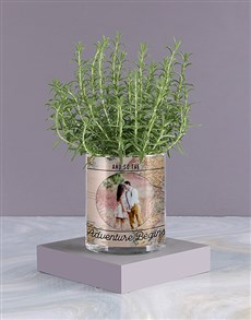 plants: Personalised Rosemary Vase!