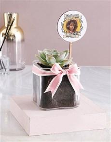 flowers: Personalised Sweet Birthday Succulent!