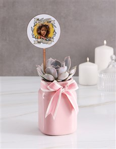 flowers: Personalised Birthday Succulent In Jar!