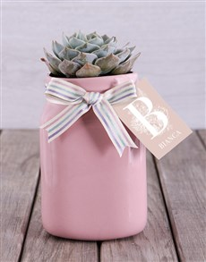 flowers: Personalised Potted Succulent!