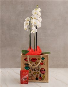 plants: Girl Power Orchid Tote Hamper!