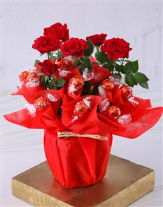 flowers: Red Rose Bush And Chocolates!