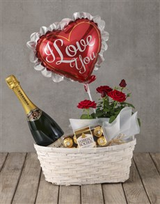 plants: Romantic Red Rose Bush Hamper!