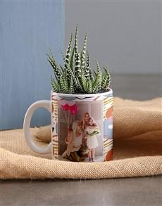 flowers: Personalised Floral Succulent Mug!