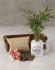 plants: Bamboo Mug With Gourmet Treats!