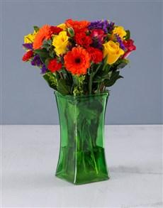 flowers: Colour Wheel Arrangement!