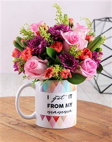 flowers: From my Mama Bright Floral Arrangement Mug!