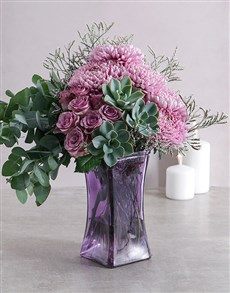 flowers: Ethereal Shades of Lilac and Green Arrangement!