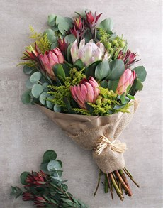 flowers: Blushing Pink Protea Bouquet!