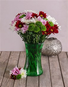flowers: Mixed Sprays in Lady Green Vase!