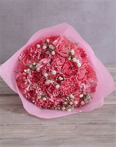 flowers: Precious Moments Pink Carnations!