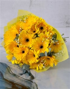 gifts: Sunshine Gerbera Daisy Bouquet!
