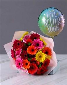 gifts: Cheerful Gerbera and Balloon Combo!
