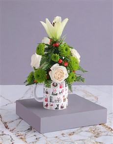 flowers: Christmas Doggy and Floral Mug!