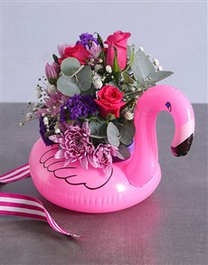 flowers: Funky Cerise Flamingo Bouquet!