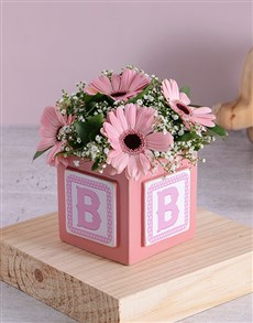flowers: Baby Girl Building Block Arrangement!