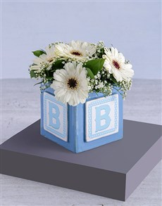 flowers: Baby Boy Building Block Arrangement!