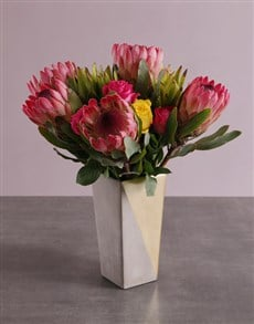 flowers: Radiant Protea Blooms!