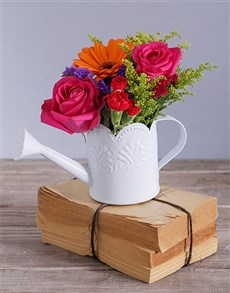 flowers: Farm Style Florals in a Watering Can!