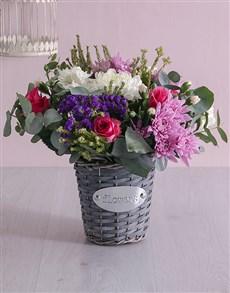 flowers: Floral Basket of Delight!
