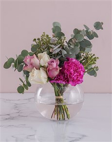 flowers: Rose Duo in a Glass Bowl!