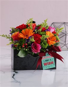 flowers: Bright Blooms in Birthday Envelope Box!