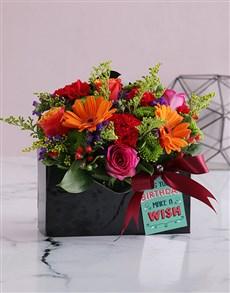 flowers: Bright Blooms in Birthday Envelope Box!