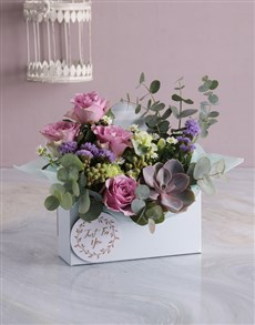 flowers: Pastel Pink Floral Flair in Envelope Box!