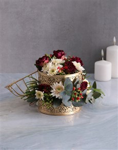 flowers: Radiant Florals In Golden Cage!