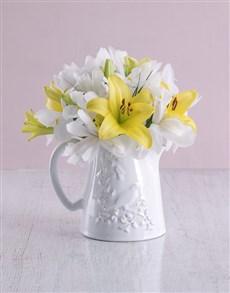 flowers: Pure White Irises!
