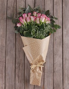 flowers: Pink Rose and Million Star Bouquet!