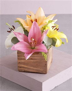 flowers: Wooden Variety Lily Blossoms!