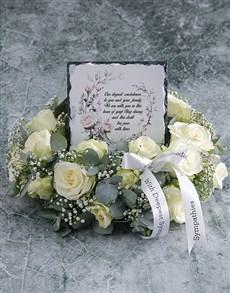 flowers: Sophisticated Sympathy Wreath!