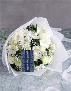 flowers: White Bouquet Of Sympathy!