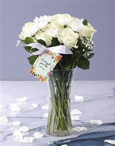flowers: White Vase Of Sympathy!